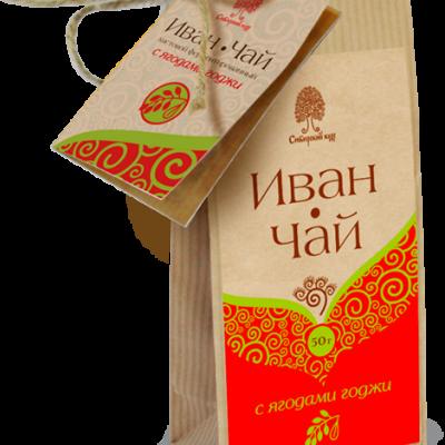 Иван-чай с ягодами годжи / крафт