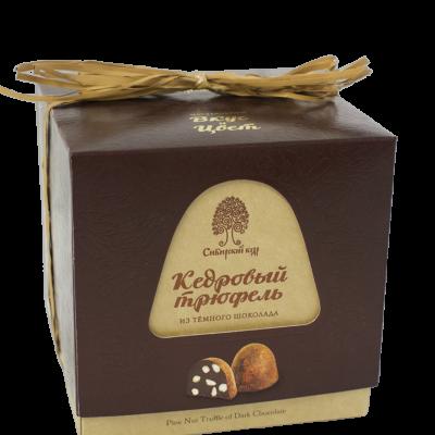 Кедровый трюфель из тёмного шоколада