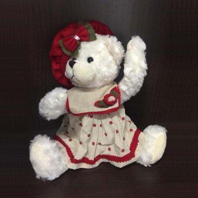 Игрушка Медвежонок с Бантом. Белый