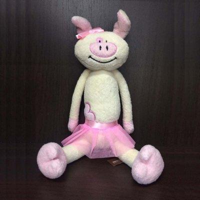 Игрушка Свинка В Юбке 33 См. Розовая