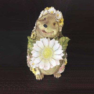Ёжик С Цветком На Солнечной Батарейке